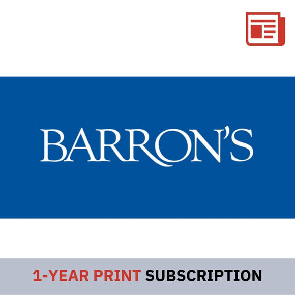 Barron's Newspaper 1-Year (Print) Subscription