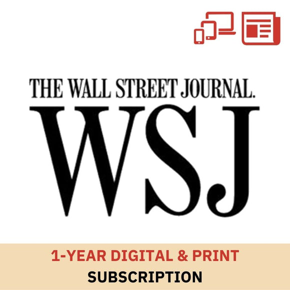 Wall Street Journal (Print & Digital) 1-Year Subscription
