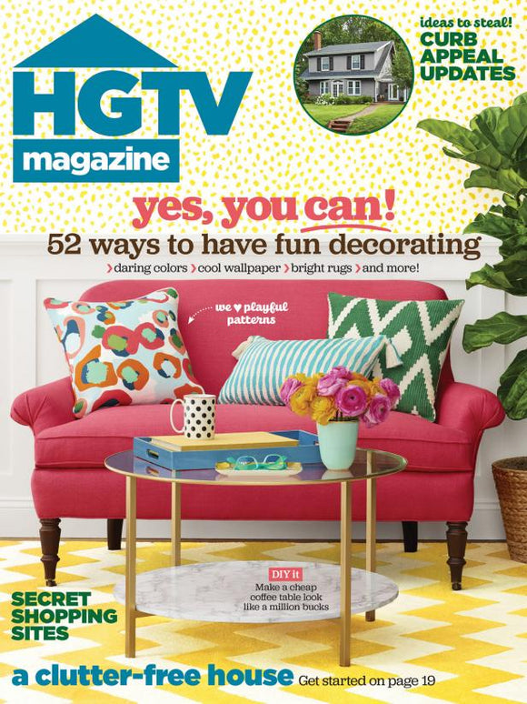 HGTV Magazine 1-Year (10 Issues) Print Subscription
