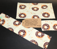 Donut Eco Set (cup wrap, straw pouch, snack bag)