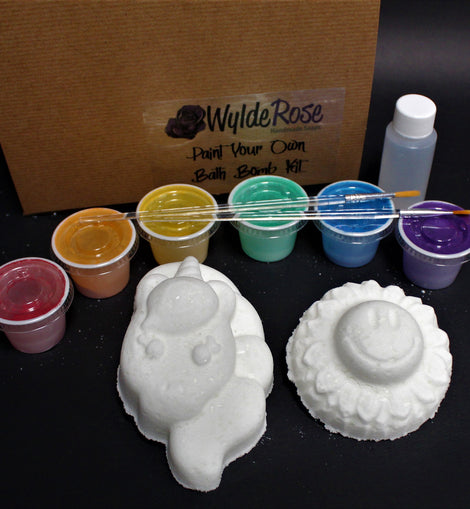 Unicorn & Smiley Flower - Jellybean Paint Your Own Bath Bomb Set