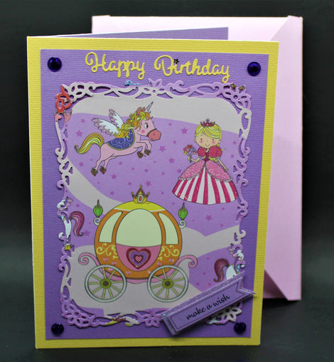 Happy Birthday Card (purple princess)