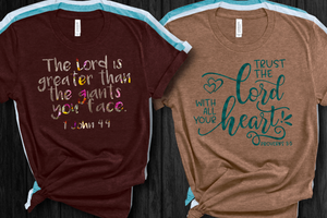 The Lord Is Greater Short Sleeve Women's Tshirt