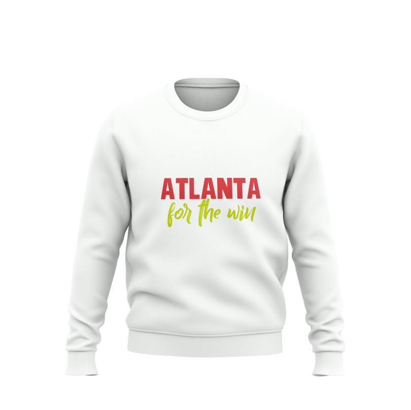 Atlanta for the Win White Sweatshirt #HeritageHill - HeritageHill