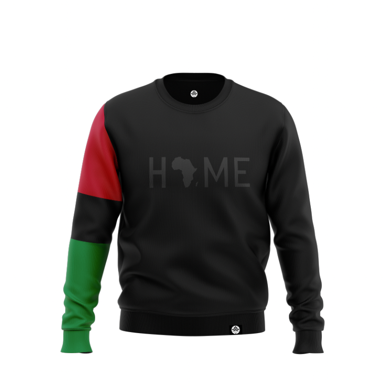 BLK on BLK HOME S Sleeve Pan African Color Block Sweatshirt #HeritageHill - HeritageHill