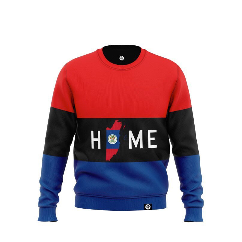 HOME is Belize Striped Vintage Color Block Sweatshirts #HeritageHill - HeritageHill