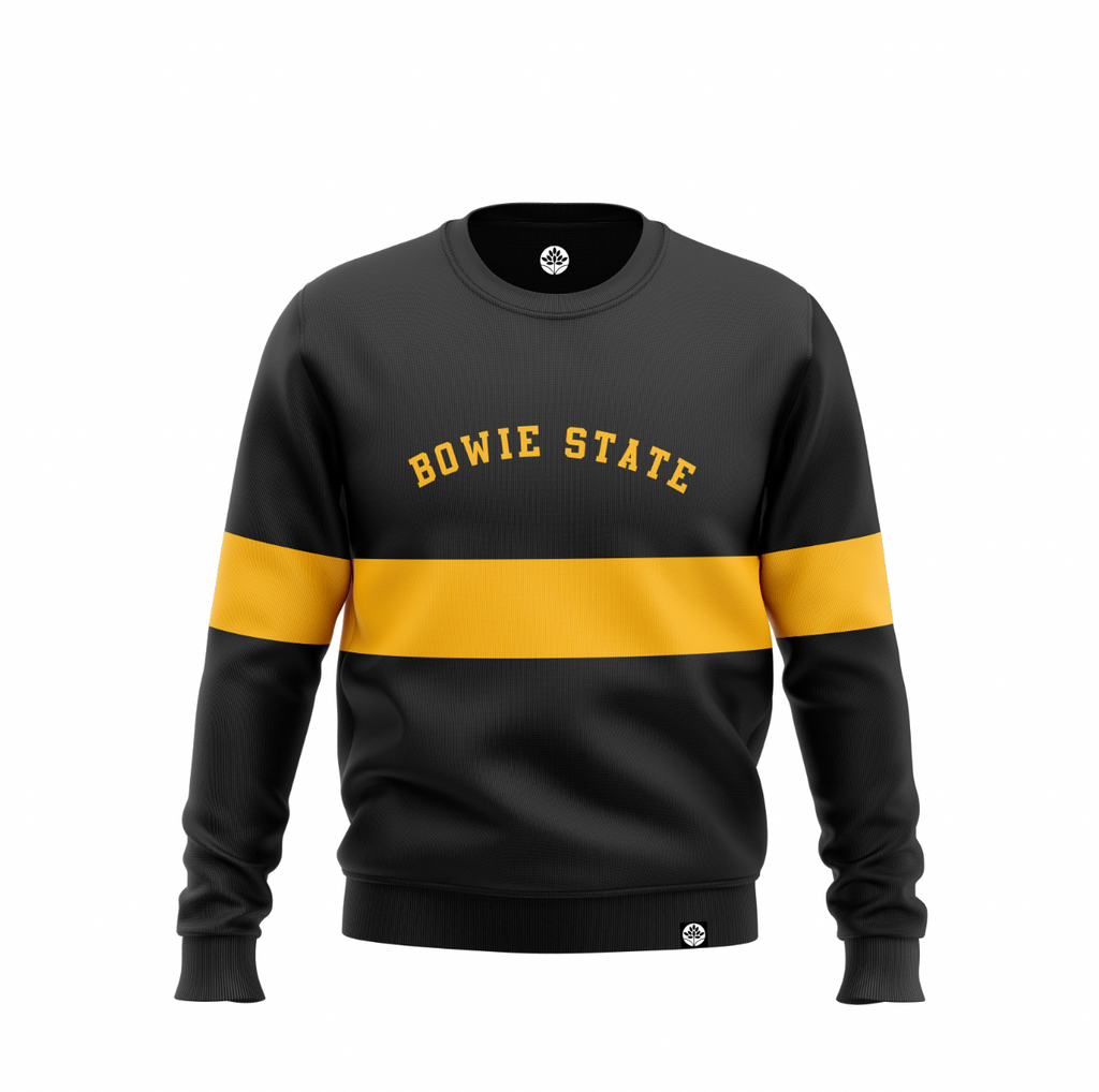 Bowie State University (v.2) Vintage Color Block Sweatshirt - HeritageHill