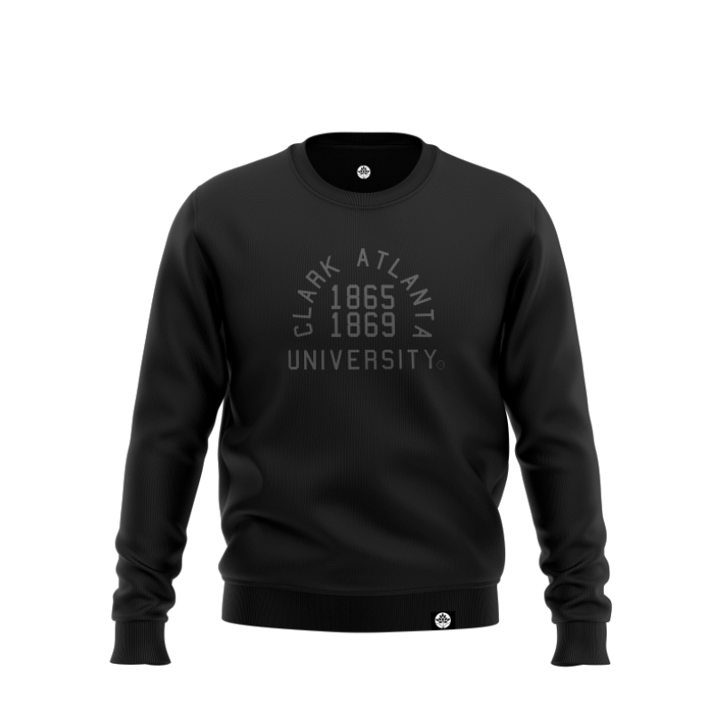 Clark Atlanta University BLK on BLK Onyx Sweatshirt - HeritageHill