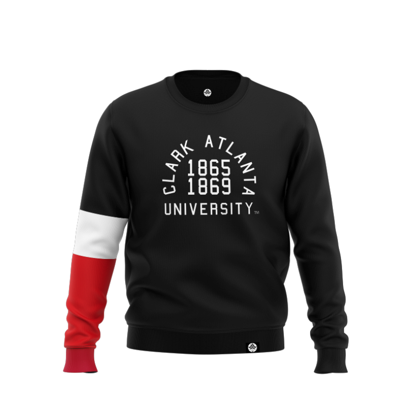 Clark College Atlanta University Winter Soldier Color Block Sweatshirt - HeritageHill