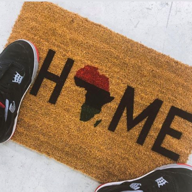 Home Is The Homeland Natural Door Mat - HeritageHill