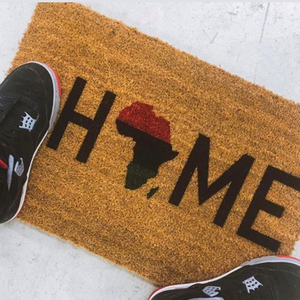 Home Is The Homeland Natural Door Mat