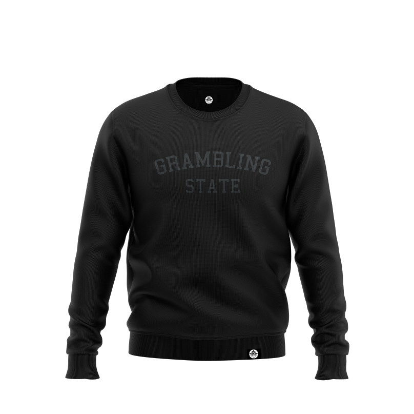 Grambling State Blk on Blk Onyx Embroidered Sweatshirt #heritagehill - HeritageHill