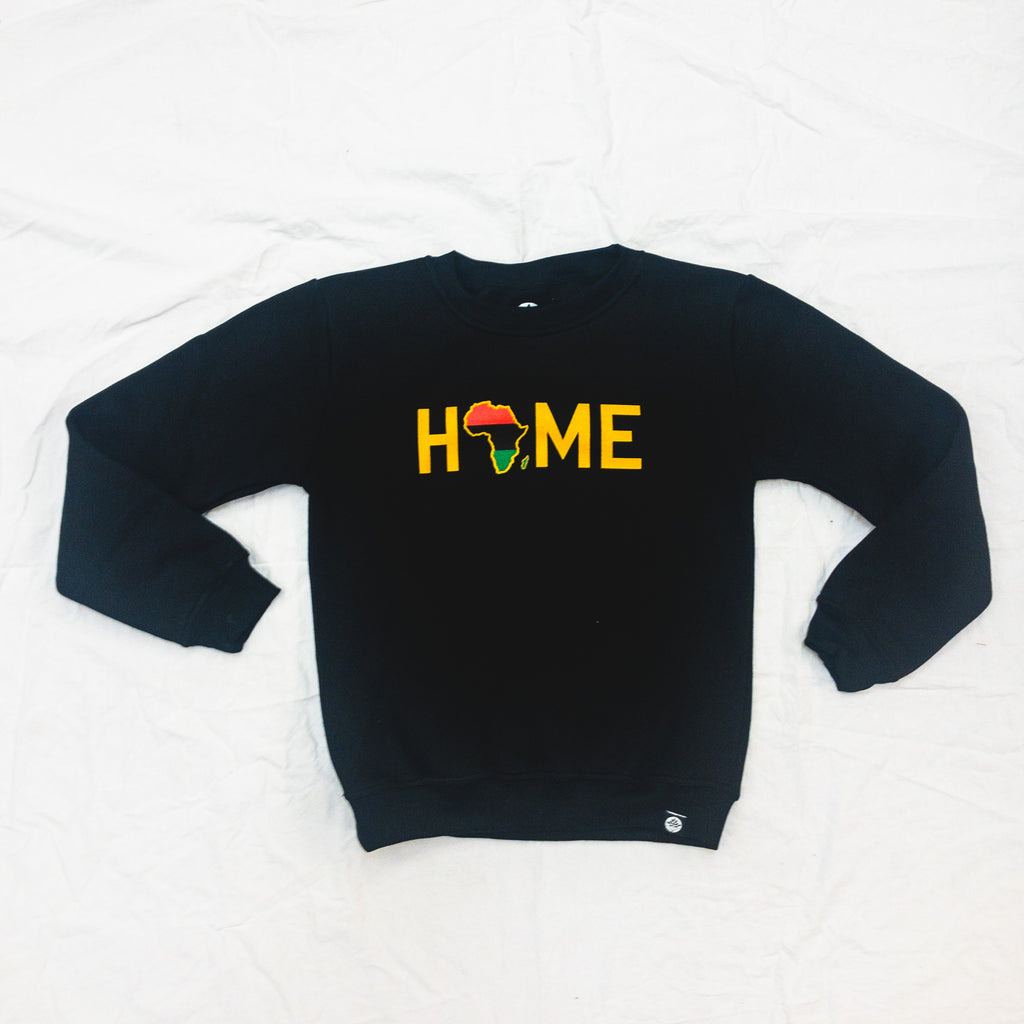Embroidered HOME x Africa Onyx Sweatshirt - HeritageHill