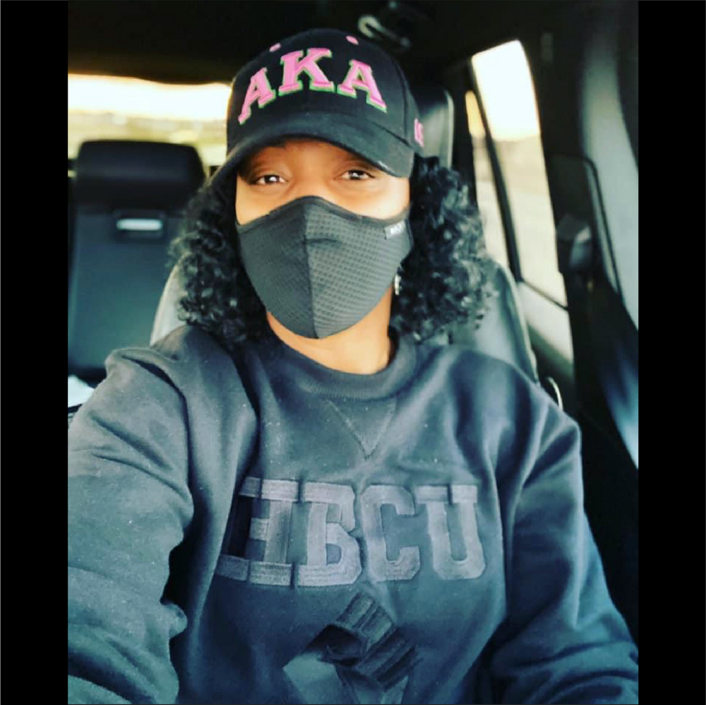 BLK on BLK HBCU Power Fist Onyx Crewneck - HeritageHill