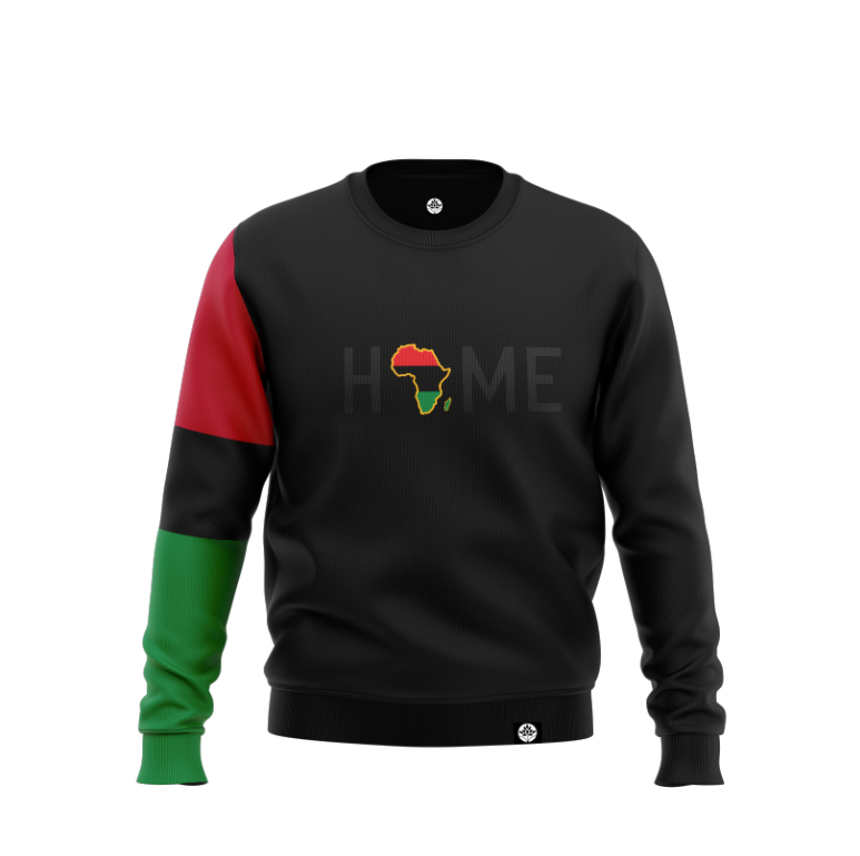 BLK on BLK G HOME S Sleeve Pan African Color Block Sweatshirt #HeritageHill - HeritageHill
