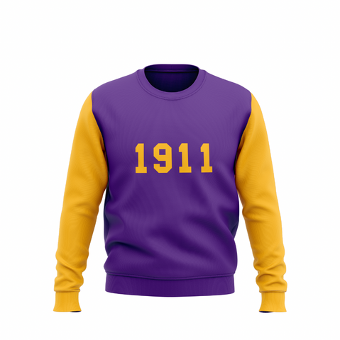1911 Vintage Omega Color Block Sweatshirt