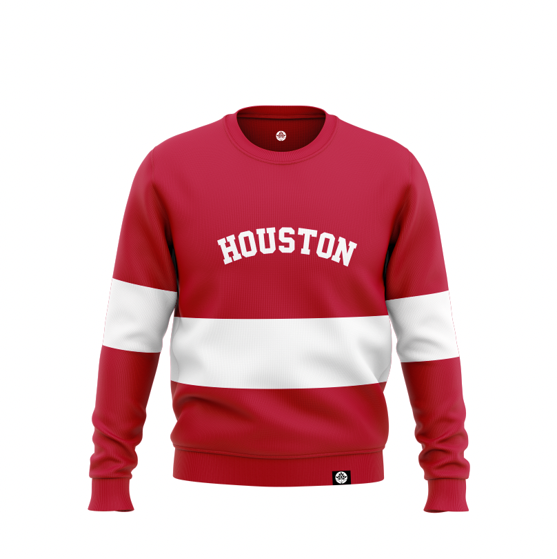 HOUSTON Striped Vintage Color Block Sweatshirts #HeritageHill - HeritageHill