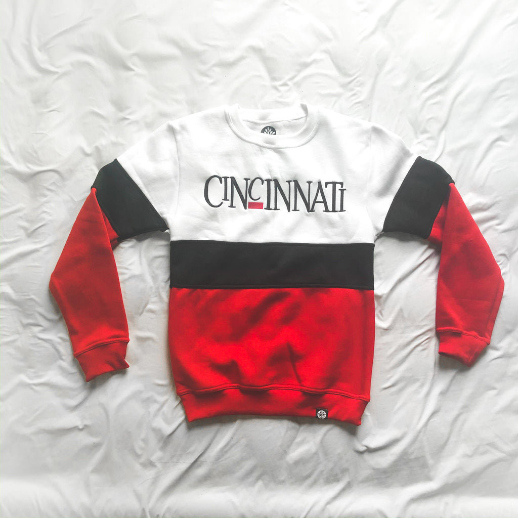 Cincinnati 1990s Vintage Color Block Sweatshirt
