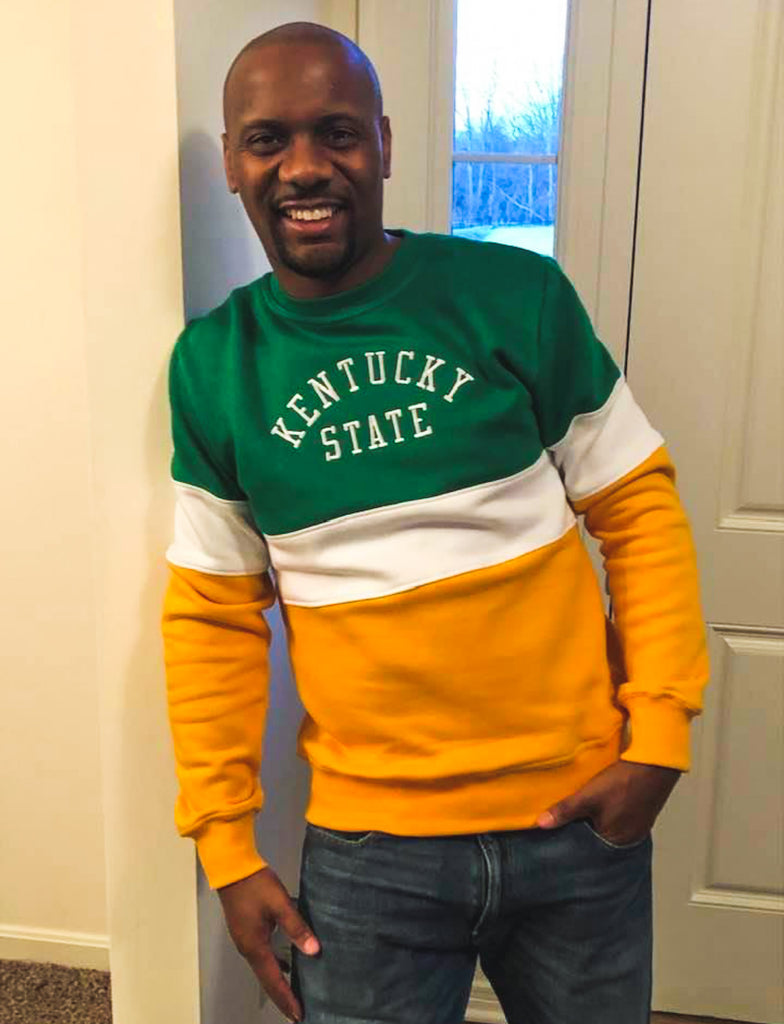 Kentucky State Vintage Color Block Sweatshirt - HeritageHill