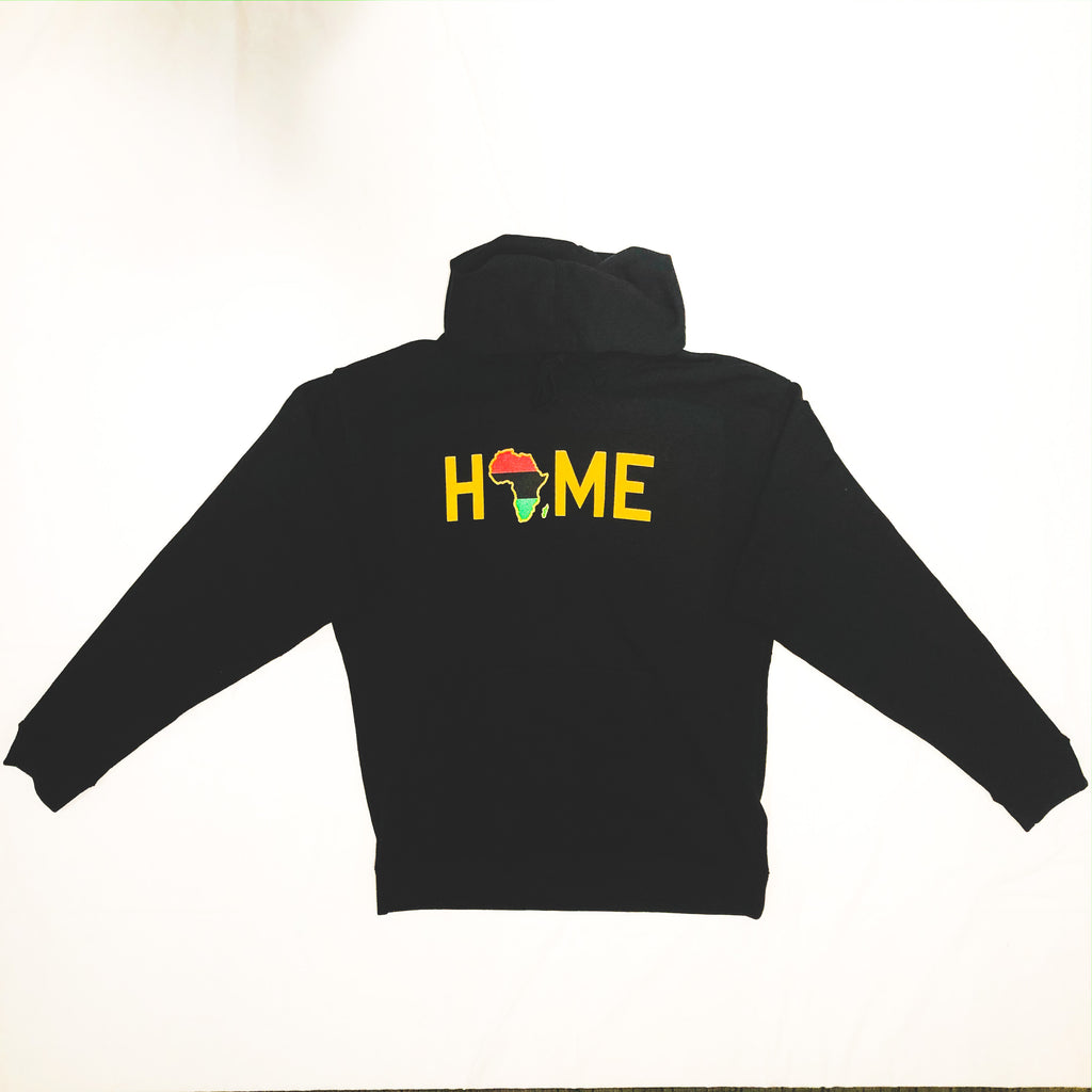 HOME is the Motherland Onyx Hoodie - HeritageHill