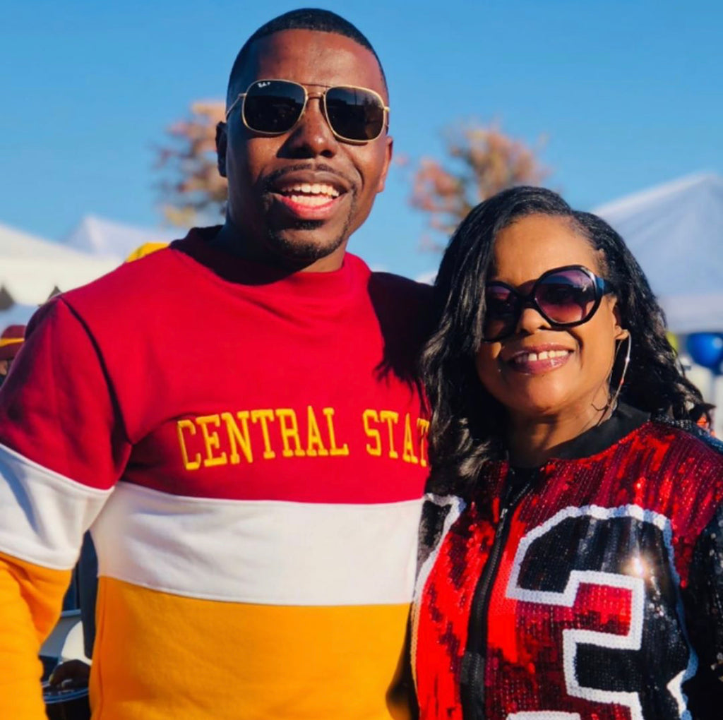 Central State Embroidered Vintage Color Block Sweatshirt