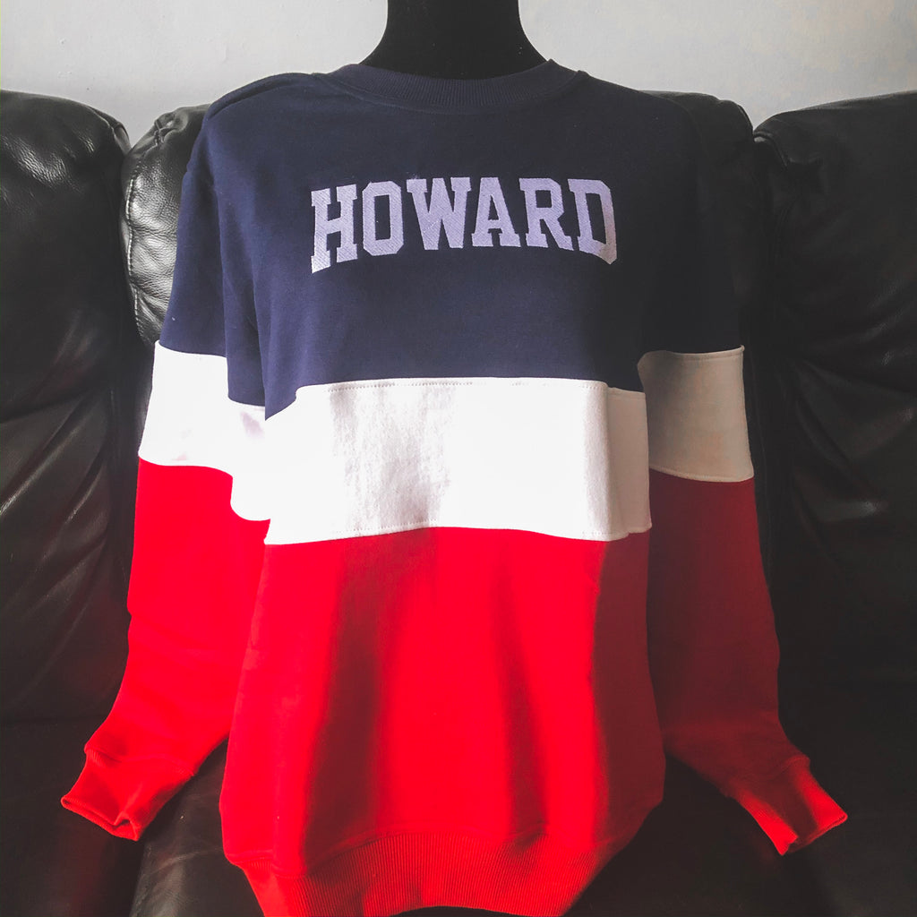 Howard Vintage Color Block Embroidered Crew - HeritageHill