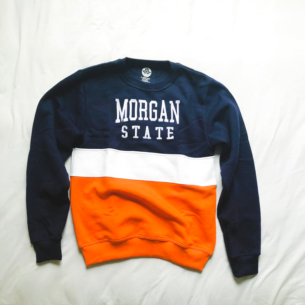 Morgan State Vintage Color Block Sweatshirt - HeritageHill