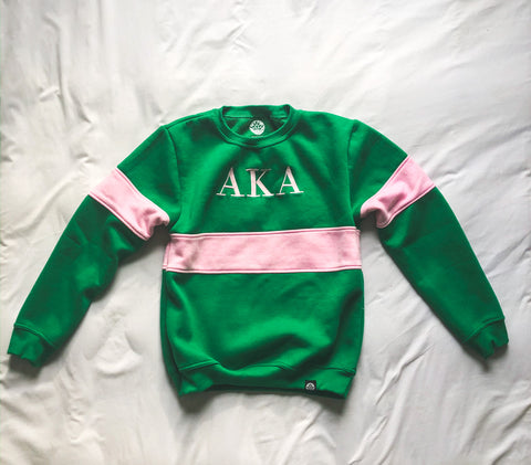 Alpha Kappa Alpha Vintage Color Block Sweatshirt