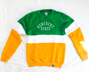 Kentucky State Vintage Color Block Sweatshirt