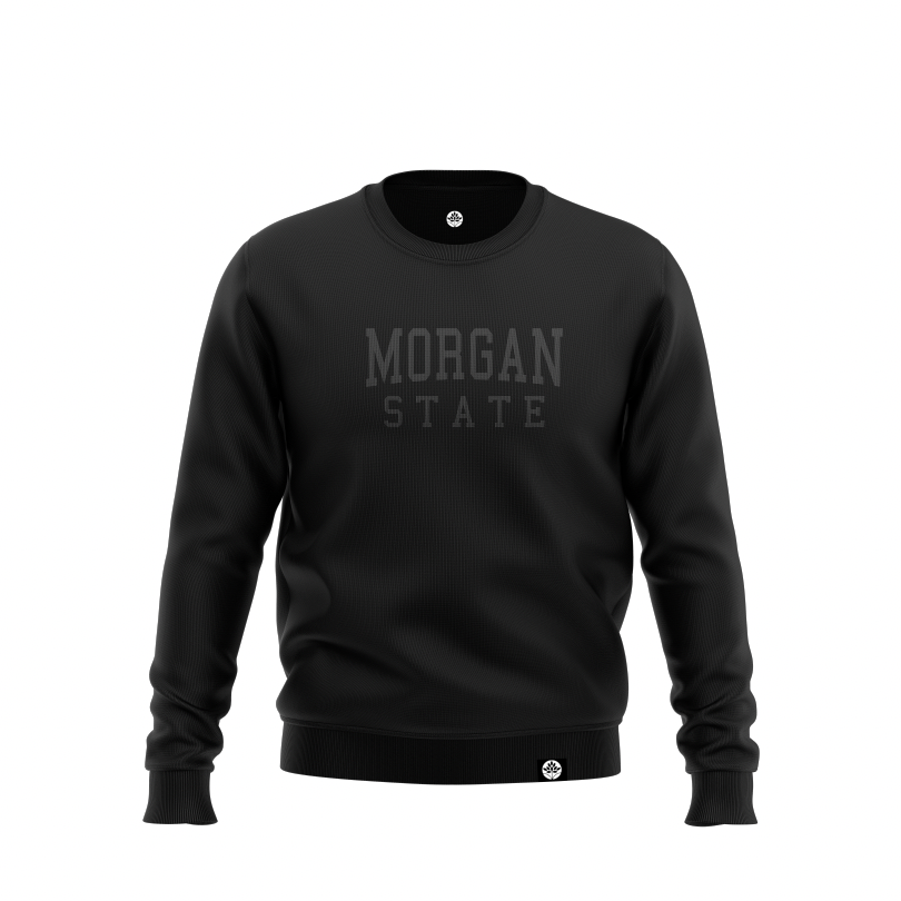 Morgan State Blk on Blk Onyx Embroidered Sweatshirt #heritagehill - HeritageHill