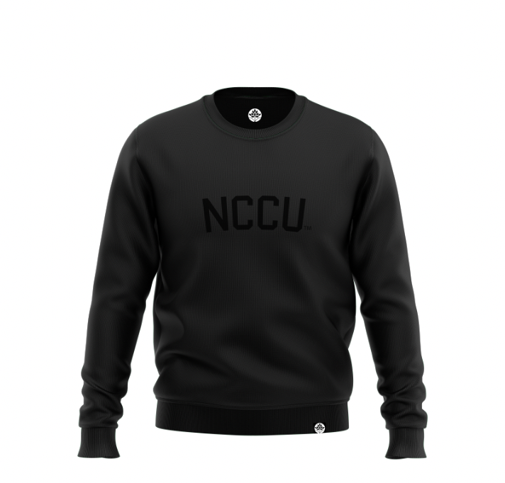 North Carolina Central BLK on BLK Onyx Sweatshirt - HeritageHill