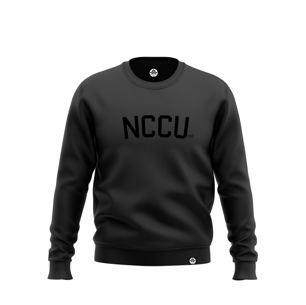 North Carolina Central Blk on Blk Onyx Sweatshirt #heritagehill - HeritageHill