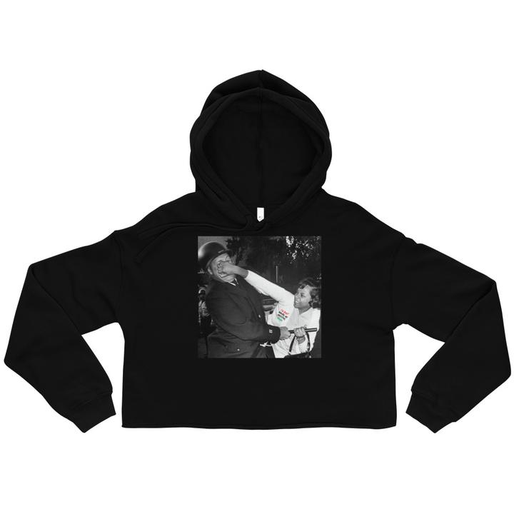 Pam Echols Aint Got Time for It Cropped Hoodie V2 - HeritageHill