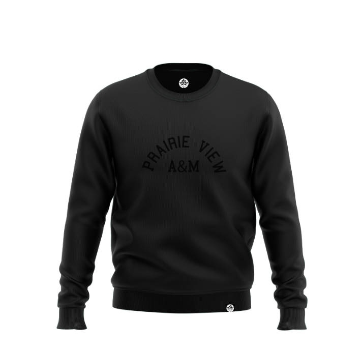 Prairie View A&M Embroidered BLK on BLK Onyx Sweatshirt - HeritageHill