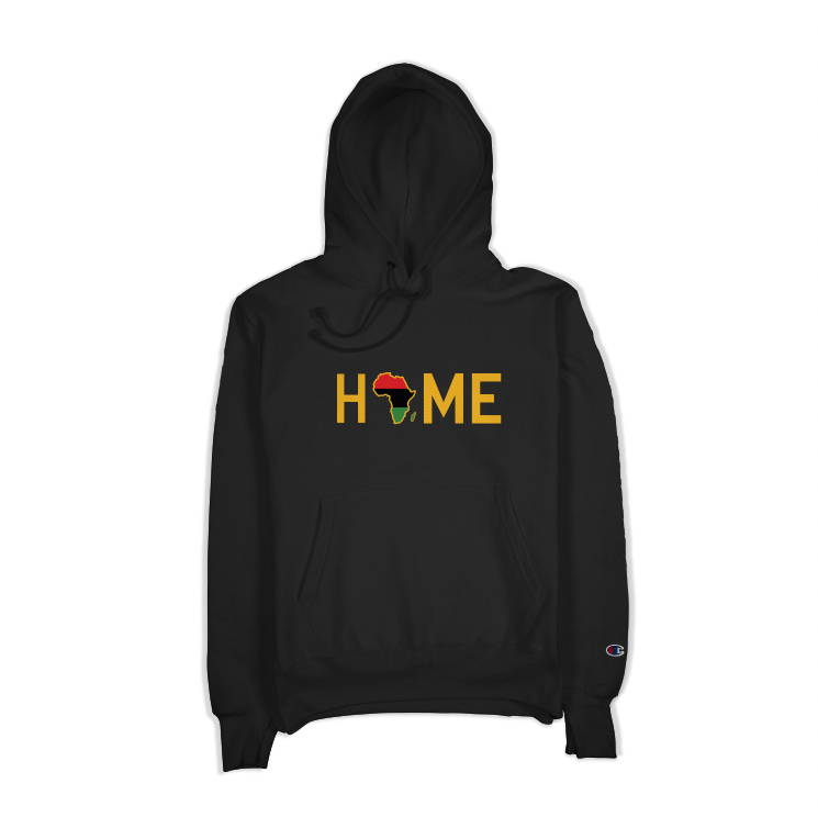 Embroidered HOME Onyx Champion Hoodie - HeritageHill