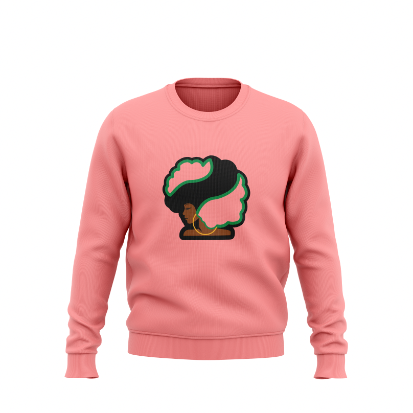 Pretty Girls and Afros Pink Sweatshirt - HeritageHill