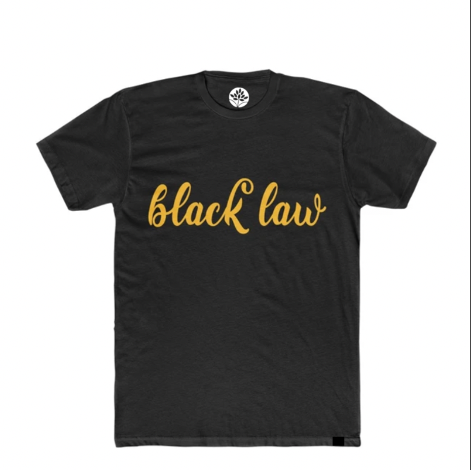 Black and Gold Black Law T-Shirt - HeritageHill