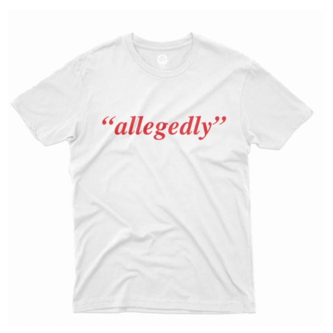 "Black Lawyers ""Allegedly"" Red and White T-Shirt - HeritageHill"