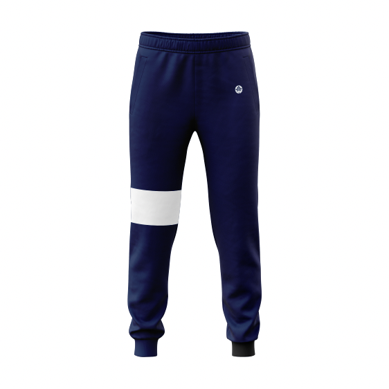 Heritage Hill Vintage Color Block Fleece Navy Joggers - HeritageHill