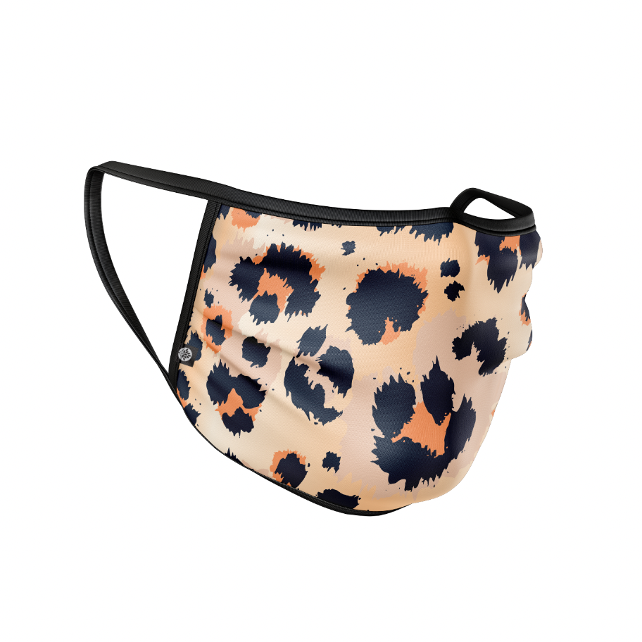 Cheetah Print Cloth Face Mask Covering - HeritageHill