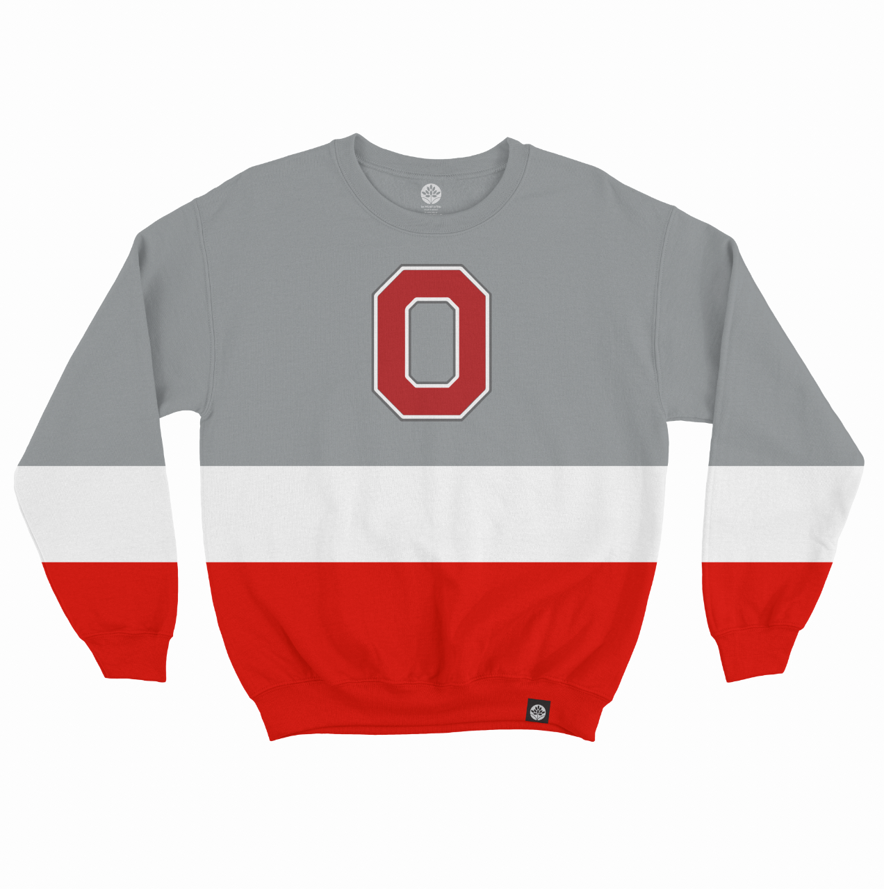 Ohio St Color Block Embroidered Sweatshirt