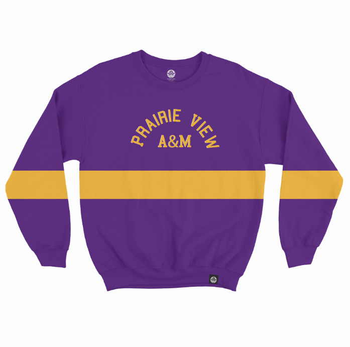 Prairie View A&M Embroidered Vintage Color Block Sweatshirt
