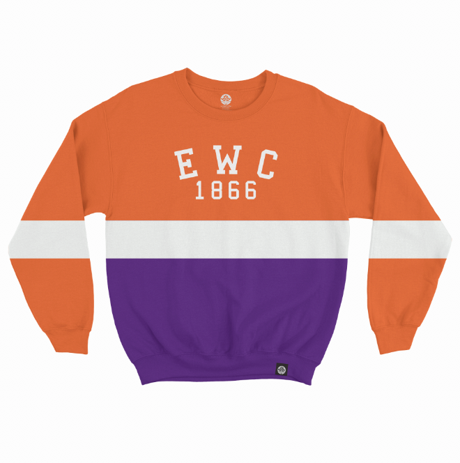 Edward Waters College 1866 Vintage Color Block Sweatshirt - HeritageHill