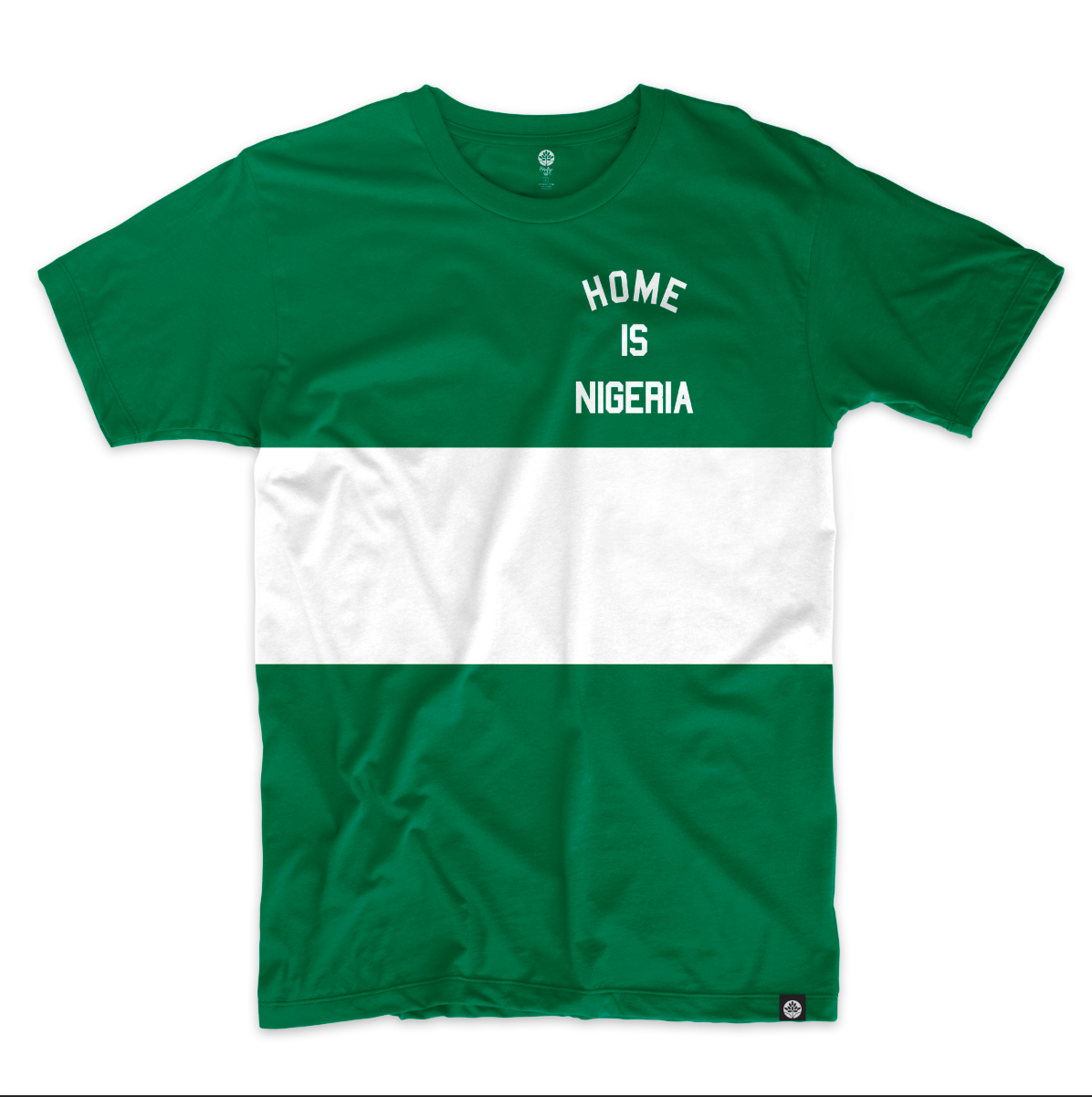 Home Is Nigeria Vintage Color Block T Shirt