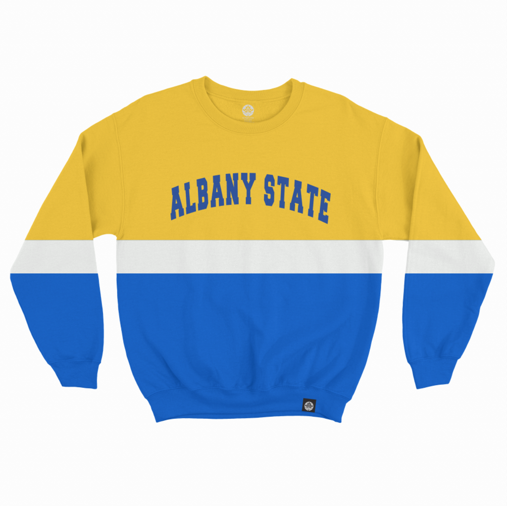 Albany State Vintage Color Block Sweatshirt