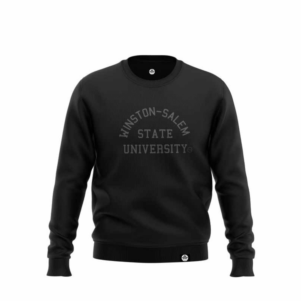 Winston-Salem State University BLK on BLK Onyx Sweatshirt - HeritageHill