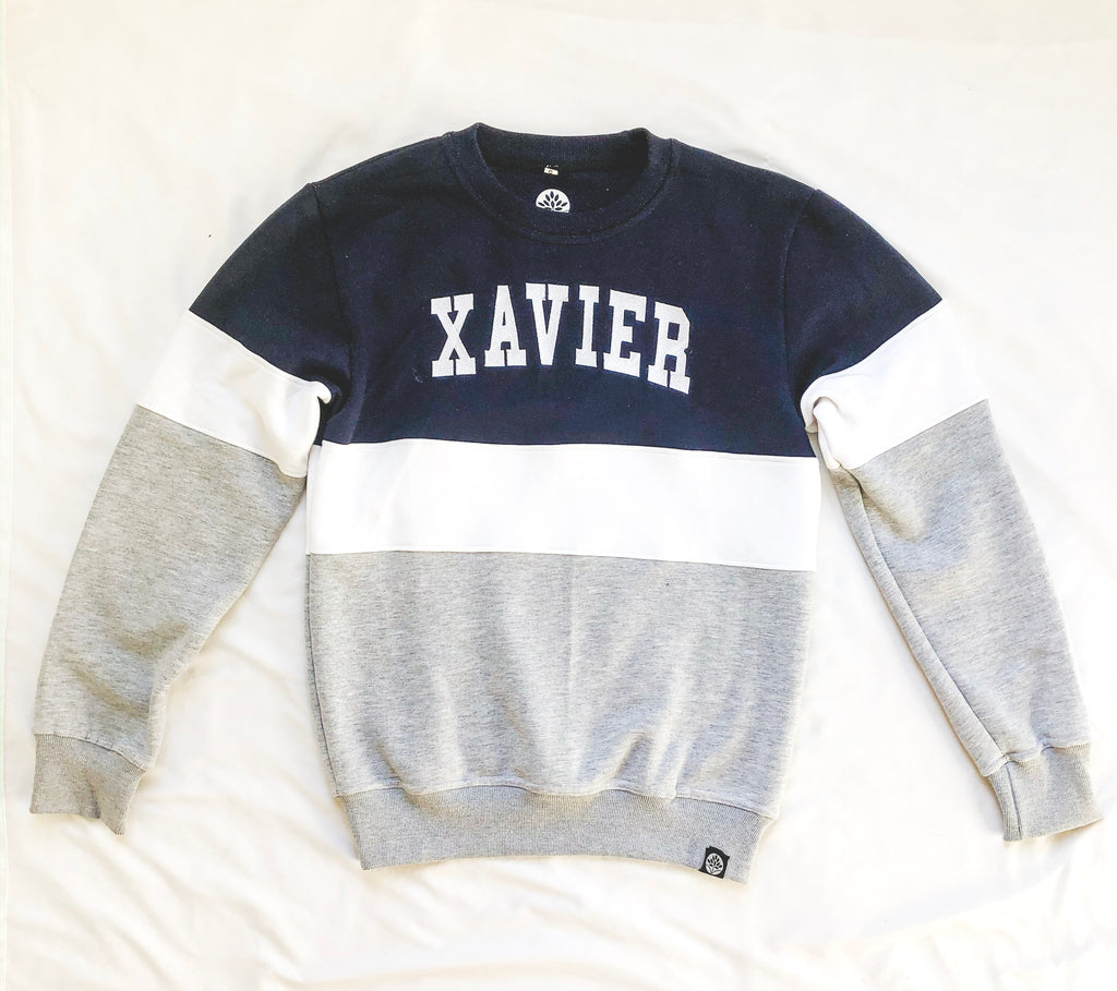 Xavier Color Block Vintage Sweatshirt