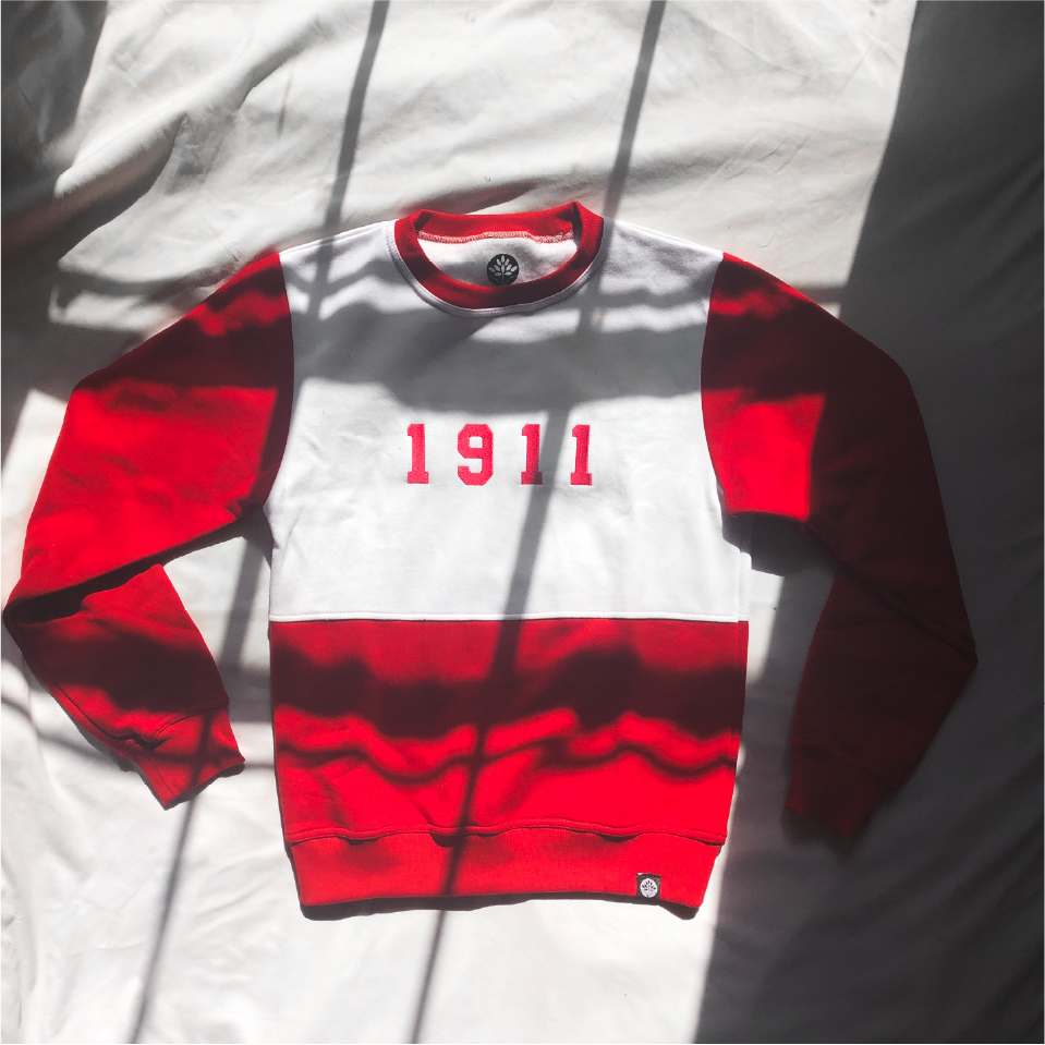 1911 Vintage Kappa Alpha Psi Color Block Sweatshirt - HeritageHill