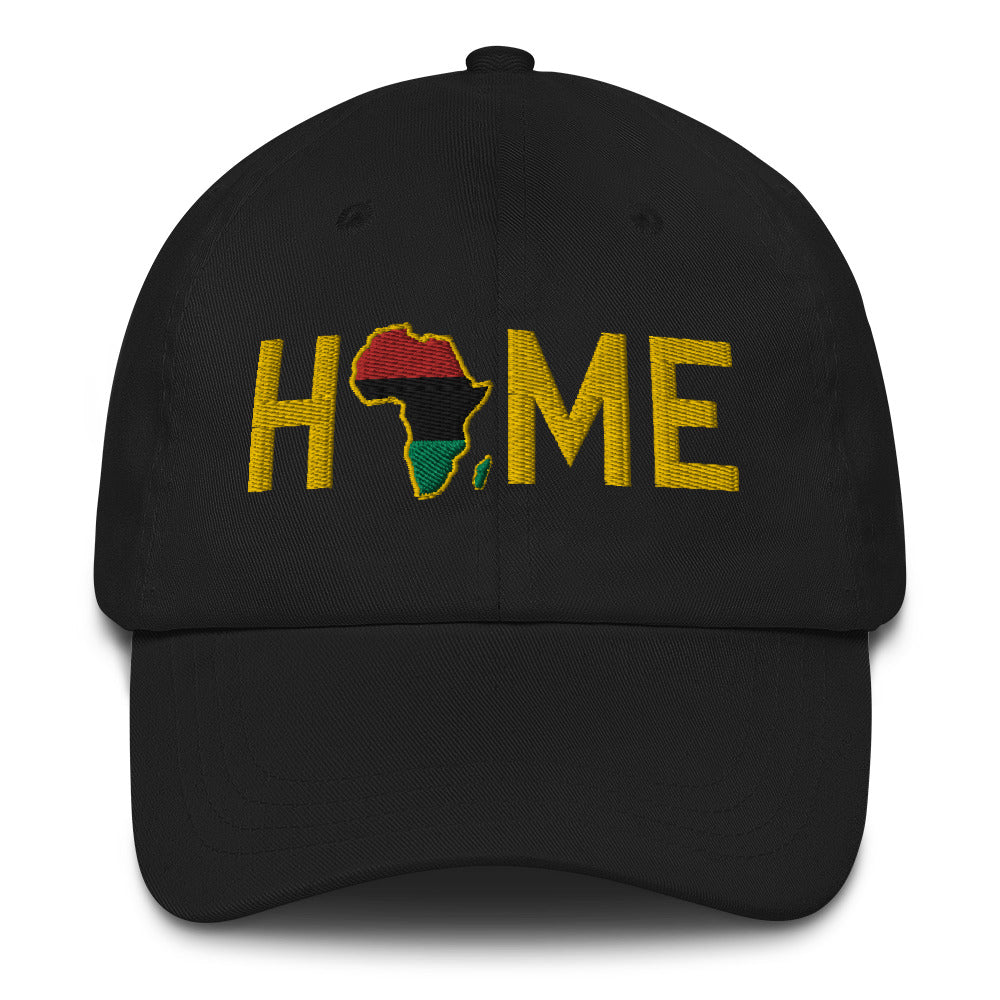 Home is the Motherland Onyx Dad Hat - HeritageHill