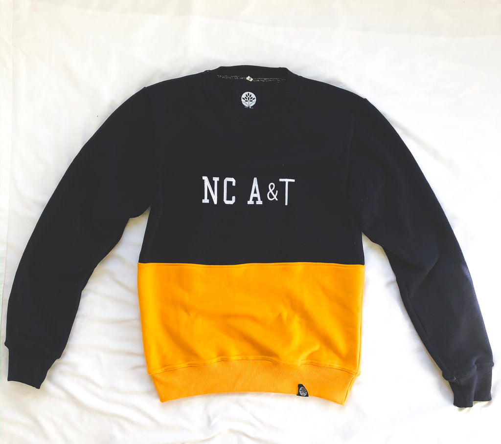 North Carolina A&T Vintage Color Block Sweatshirt - HeritageHill